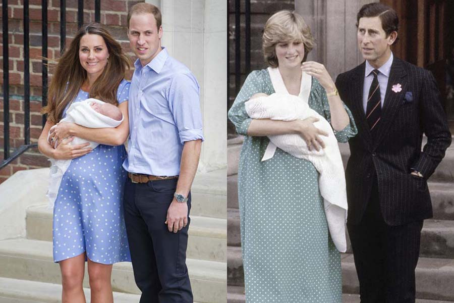 Kate Middleton y DIana de Gales en imágenes de archivo