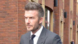 David Beckham saliendo de la Corte de Bromley / GTRES