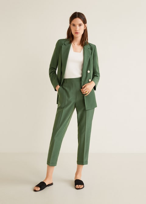 Mango traje verde