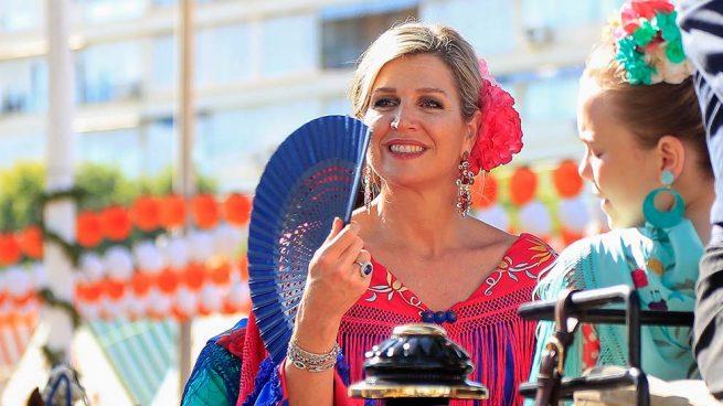 Vestida de flamenca y bailando sevillanas: Máxima se atreve con lo que no ha hecho Letizia en 15 años