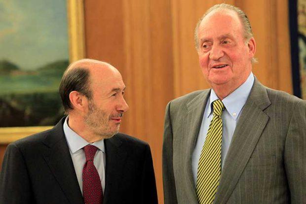 Alfredo Pérez Rubalcaba Rey Juan Carlos