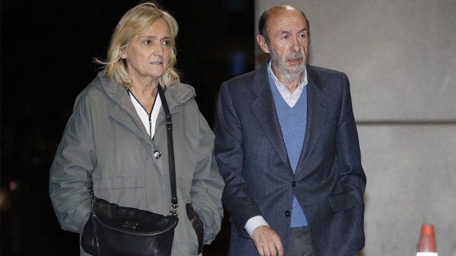 Alfredo Perez Rubalcaba y Pilar Goya
