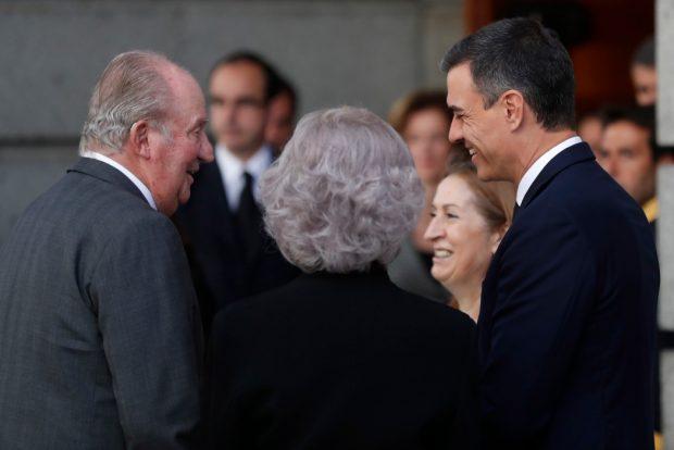 Pedro Sánchez Ana Pastor Don Juan Carlos Doña Sofía