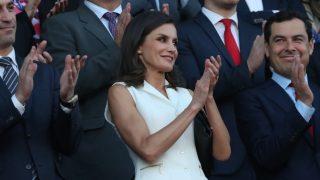 La reina Letizia, en el palco de la Copa de la Reina / Gtres.