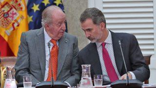 Los reyes Juan Carlos y Felipe en el Palacio de El Pardo / Gtres