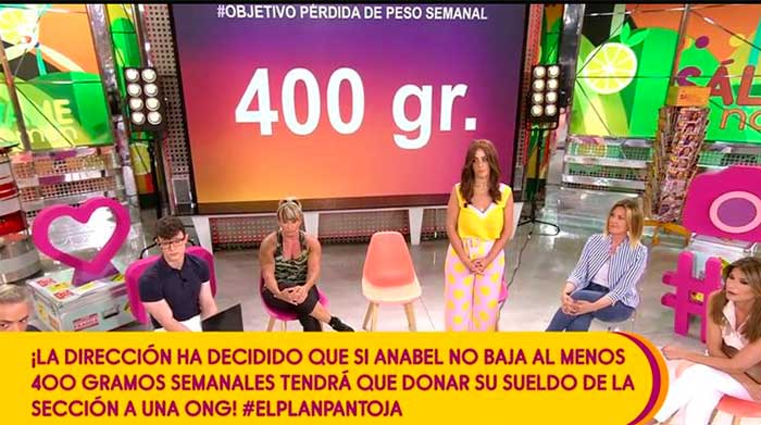 'Sálvame' amenaza con embargarle el sueldo a Anabel Pantoja si no adelgaza