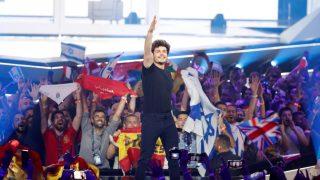 Miki Núñez, al final de su actuación en Israel por Eurovisión 2019 / Gtres.