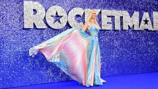 Claudia Schiffer, durante la presentación en Londres de 'Rocketman' / Gtres
