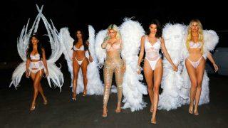 Las hermanas Kardashian Jenner paralizan Los Ángeles convertidas en maniquíes de escaparate / Gtres