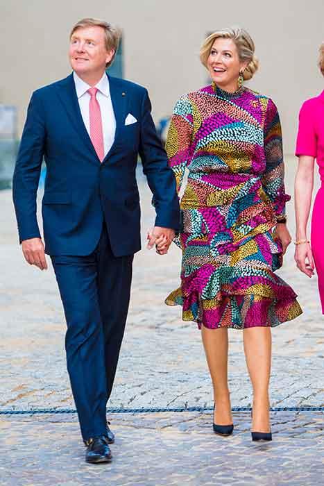 El rey Guillermo de Holanda y la reina Máxima de Holanda