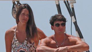 Tras su boda ficticia, Laura Matamoros y Daniel Illescas han recalado en Ibiza / Gtres