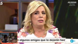 Carmen Borrego, durante su entrevista con 'Viva la Vida' / Telecinco.