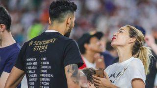 Tamara Gorro y Ezequiel Garay, en la celebración / Gtres.