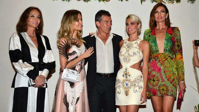 Amaia Salamanca, Isabel Preysler, Antonio Banderas, Nicole Kimpel y Nieves Álvarez