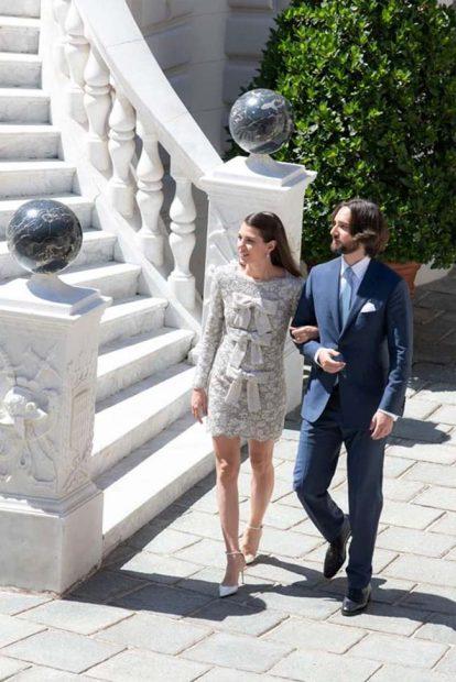 Carlota Casiraghi y Dimitri Rassam tras convertirse en marido y mujer