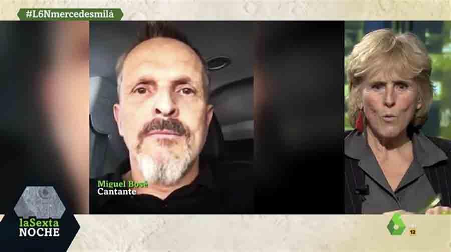 Miguel Bosé mandó un mensaje a Mercedes Milá durante su paso por 'La Sexta Noche'