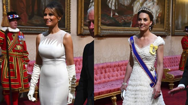 Duelo en blanco: Kate Middleton eclipsa a Melania Trump con su look con mensaje