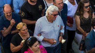 El padre de José Antonio Reyes, destrozado en el funeral / Gtres