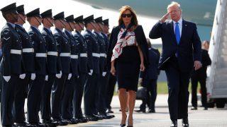 La Primera Dama, Melania Trump, y el Presidente de EEUU, Donald Trump, en Londres. / Gtres