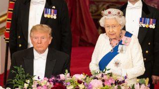 La reina Isabel y el presidente Trump / Gtres