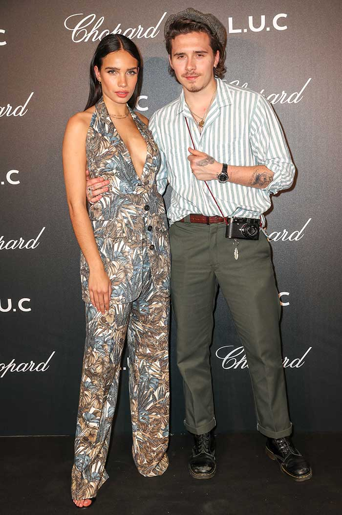 Brooklyn Beckham y Hana Cross en fiesta de Chopard