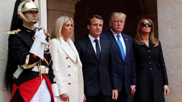 Melania Trump y Brigitte Macron se entregan al lujo en su visita de estado