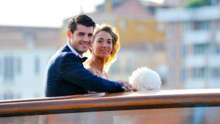 Álvaro Morata y Alicia Campello, en una imagen de su boda / Gtres.