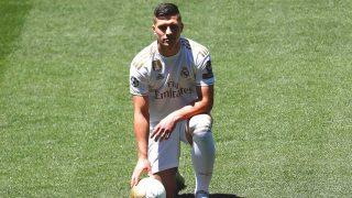 Luka Jovic, durante su presentación con el Real Madrid / Gtres