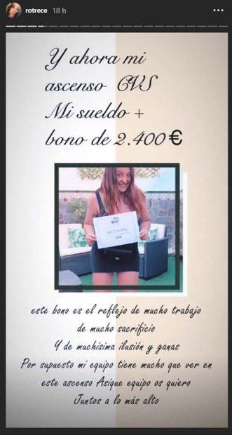 Rocío Flores revela la suma de dinero que ha recibido en su trabajo