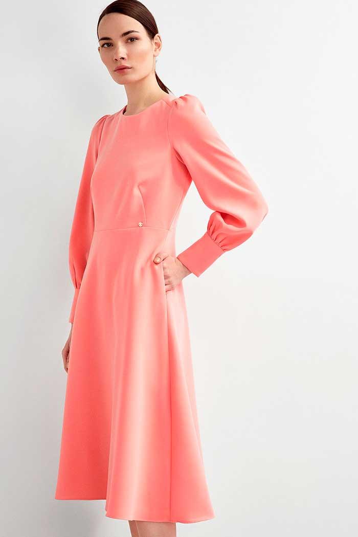 Vestido midi rosa Pedro del Hierro