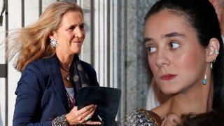 La infanta Elena y Victoria Federica se rodean de 'celebs' en su última salida