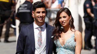 Marco Asensio y Sandra Garal, en la boda de Sergio Ramos y Pilar Rubio / Gtres