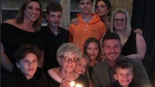 David Beckham y su familia, en plena celebración / Instagram.