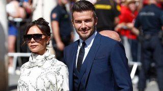 David Beckham y Victoria Beckham, en la entrada a la boda de Sergio Ramos / Gtres