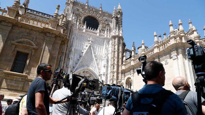 Espectacular despliegue de medios para la boda de Pilar Rubio y Sergio Ramos