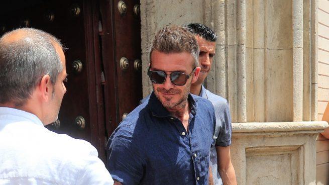 David Beckham y Victoria abandonan Sevilla tras la boda de Sergio Ramos y Pilar Rubio