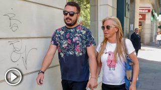 Belén Esteban y Miguel Marcos, saliendo de un centro de belleza este lunes / Gtres