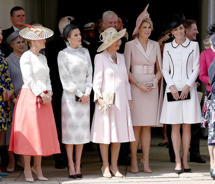 Kate Middleton junto a Máxima de Holanda, la Reina Letizia y Camila Parker / GTRES
