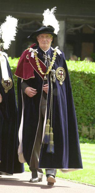 Así fue el día en que don Juan Carlos se convirtió en Caballero de la Jarretera (y el rey Felipe también estaba)