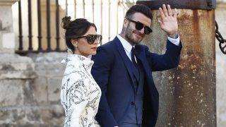Victoria Beckham y David en la Catedral de Sevilla /Gtres