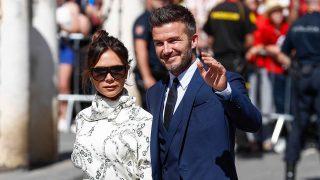 David y Victoria Beckham a su llegada a la boda de Pilar Rubio y Sergio Ramos en Sevilla / GTRES