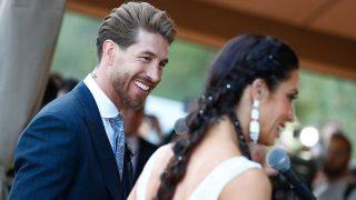 Sergio Ramos y Pilar Rubio, durante la celebración de su boda / Gtres