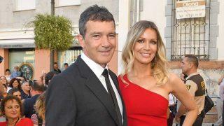 Antonio Banderas y Nicole Kimpel a su llegada a la entrega de premios en Málaga / GTRES