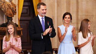 Doña Letizia celebra sus cinco años como reina con un guiño a Leonor / Gtres