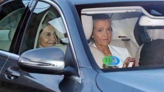 La reina Sofía y la infanta Elena a su llegada a la finca /Gtres