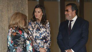 La reina Letizia ha recuperado una vez más el vestido de Sandro París /Gtres