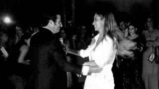 María Pombo y su segundo vestido de novia / Instagram.