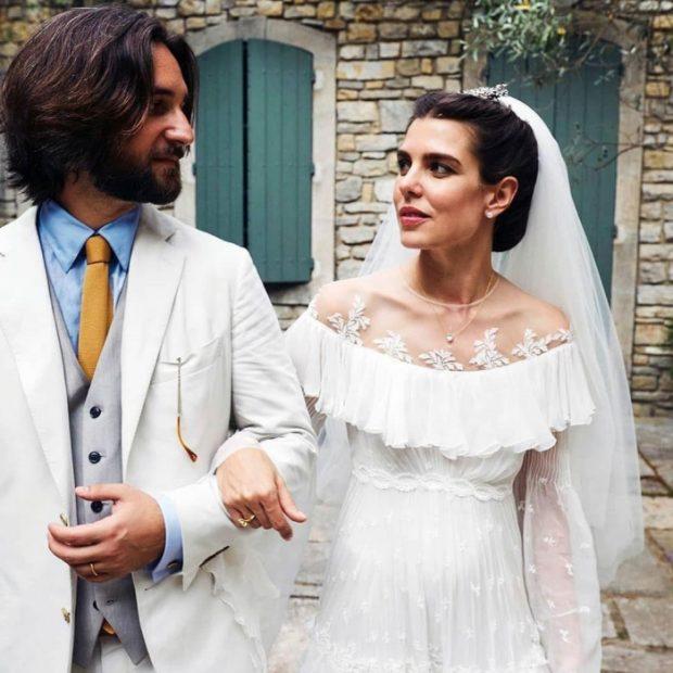 La boda de Carlota Casiraghi: el nuevo vestido y su imagen más romántica