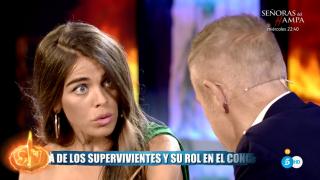 Violeta se mostró encantada con las palabras de Fabio./Mediaset