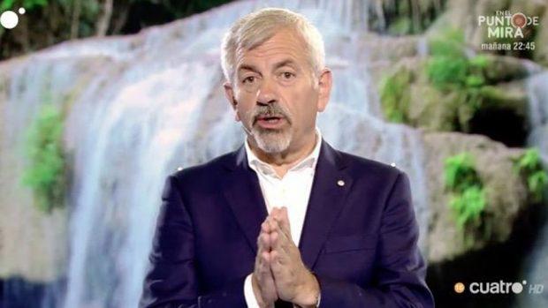 Carlos Sobera durante la emisión del programa /Mediaset